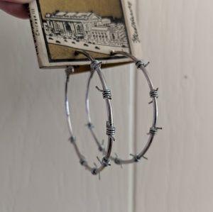"🖐️ Handmade Barbwire Hoops ~ 2"""